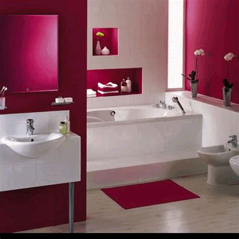Raspberry Bathroom Accessories I This Color Of Raspberry To Accent My Grey Black And White Bathroom Home Sweet Home
