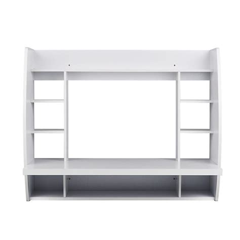 Utopia Alley Melamine Wall Mount Floating Desk With White Floating Desk With Storage