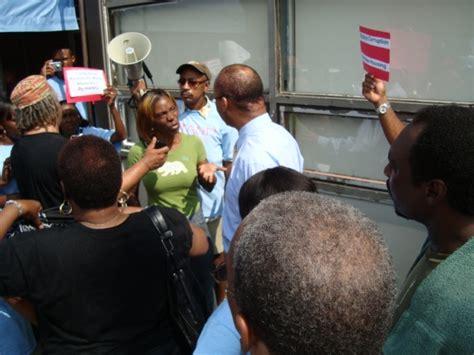 Hano Section 8 by Protestors Descend On Hano Demanding Quot Sec 3 And Sec 8