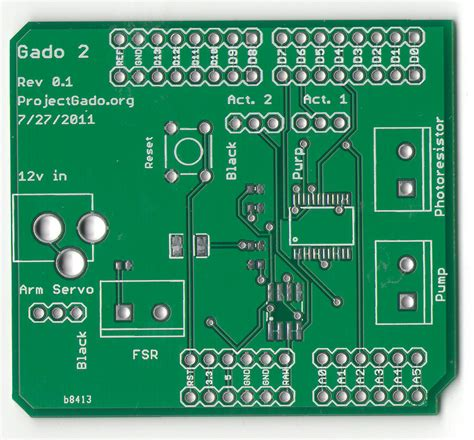 simple circuit board gado images the of a gado kit the pcb shield