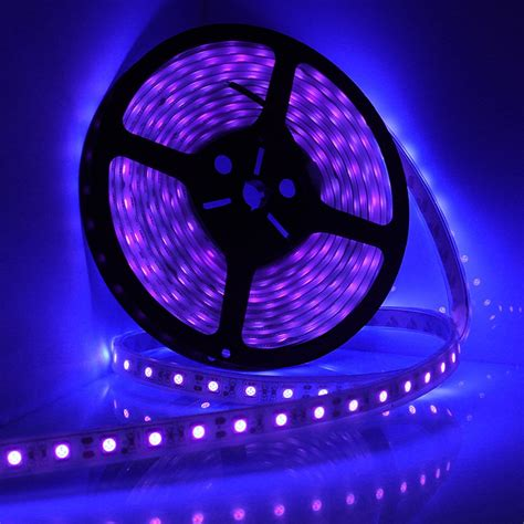 Uv Led Light Strips 5m 16ft Led Waterproof Ultraviolet Purple Black Light