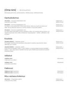 cv ansioluettelo templates office com
