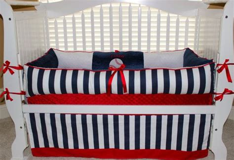 Handmade Nursery Bedding - custom baby bedding 3 pc set baseball ethan set by