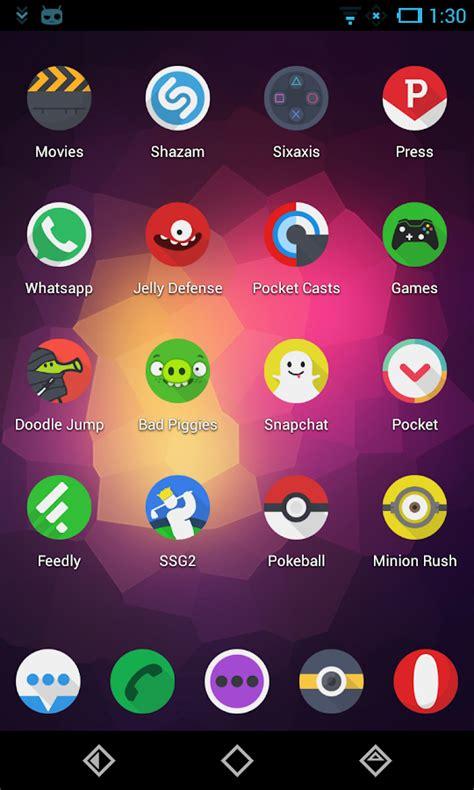 themes for trebuchet launcher click ui go apex nova theme screenshot