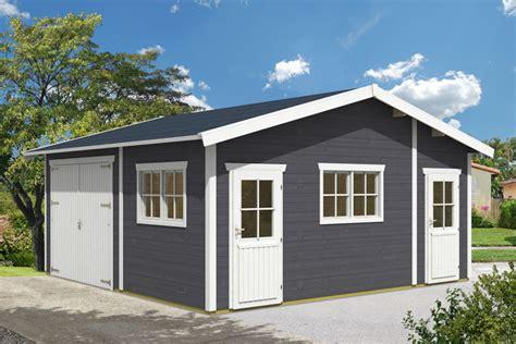 gartenhaus garage garage skanholz 171 mora 1 187 einzelgarage 45 mm holzgarage