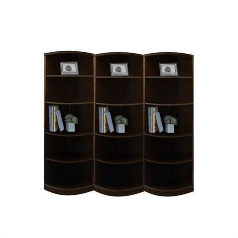mayline sorrento 5 shelf quarter wall bookcase in