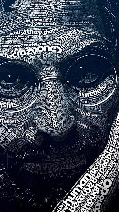 wallpaper for iphone 5 art スティーブ ジョブズ タイポグラフィ おしゃれなiphone壁紙 スマホ壁紙 iphone待受画像ギャラリー
