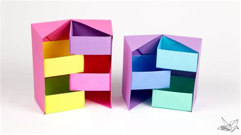 How To Make A Paper C - origami secret stepper box tutorial paper kawaii
