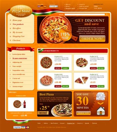 Html5 Web Templates 300110280 Pizza Website Template