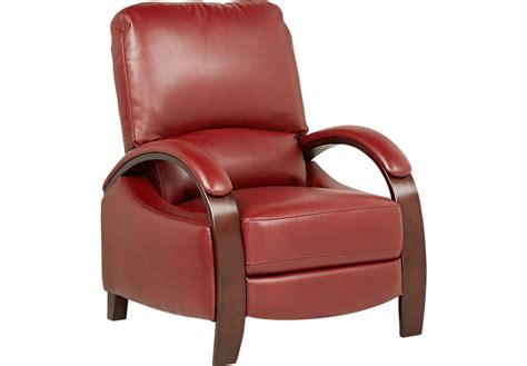 red recliners benjamin red pushback recliner recliners red