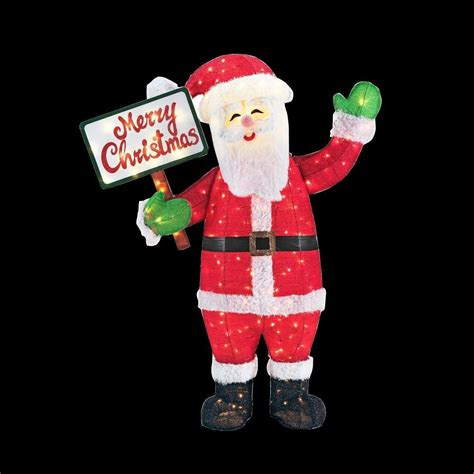 home accents holiday 60 in led lighted tinsel santa with