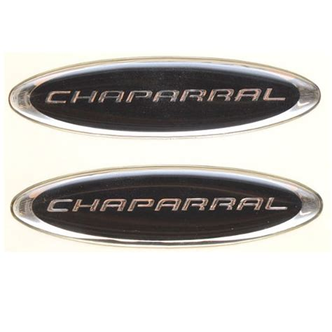 boat manufacturer decals boat oem vinyl decal chaparral black silver pair