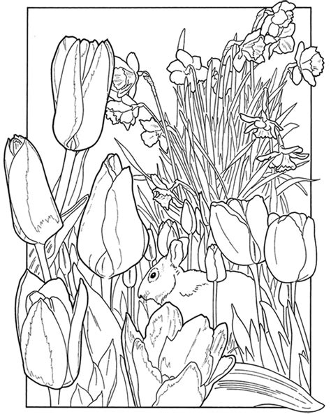 spring coloring pages spring garden coloring pages kids