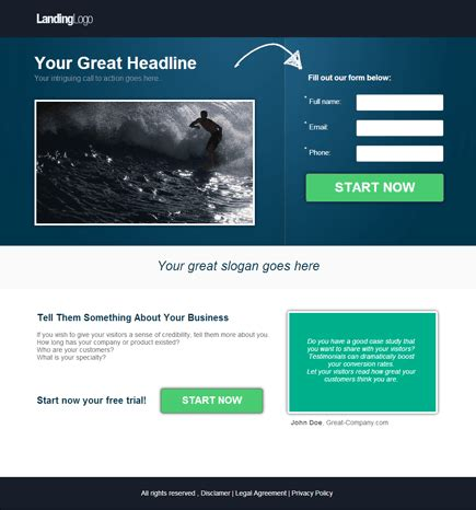 landing page templates for blogger landing page templates pagewiz