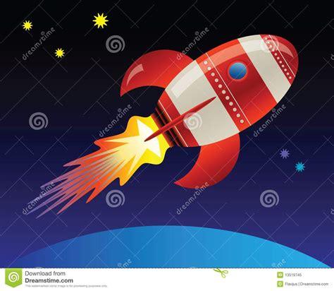 Raket Or raket in ruimte vector illustratie afbeelding bestaande uit ruimteschip 13519745