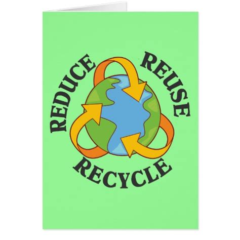 recycling cards reduce reuse recycle stationery note card zazzle