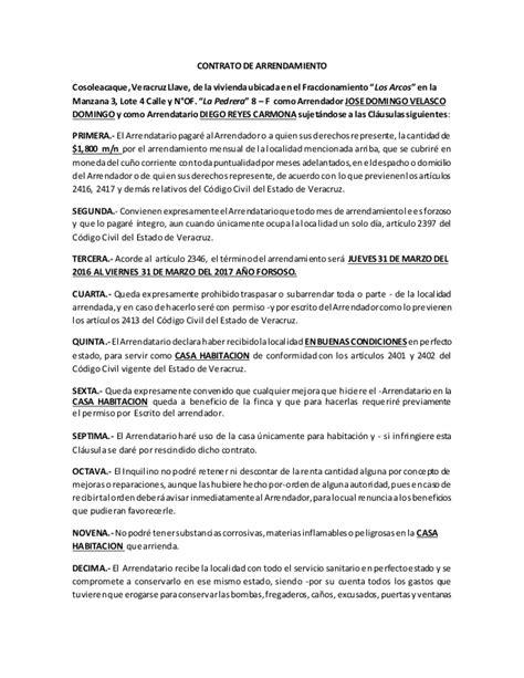 modelo contrato alquiler vivienda 2016 argentina contrato de alquiler 2016 argentina modelo contrato