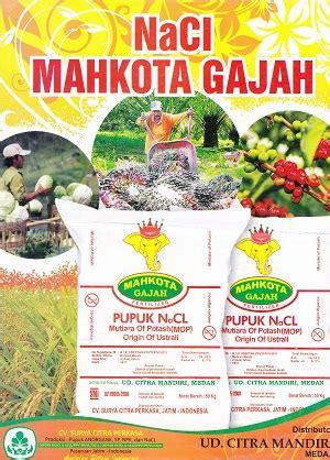 Pupuk Kalsium Yang Bagus jual pupuk nacl mahkota gajah kios pupuk distributor