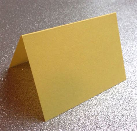 Folded Paper Cards - items similar to 10 yellow blank folded place cards