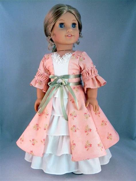 design american girl doll clothes colonial style dress and petticoat for elizabeth felicity