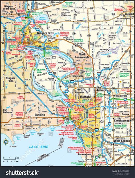 map of new area buffalo new york area map stock vector 143966200
