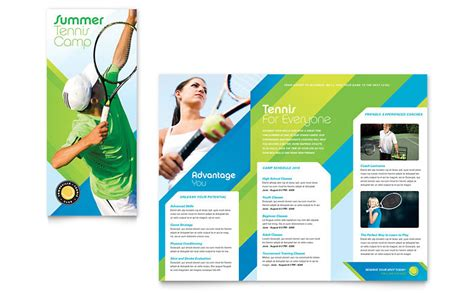 templates for leaflets microsoft tennis club c tri fold brochure template word