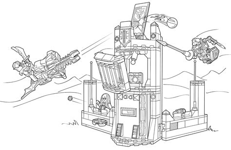 nexo knights coloring coloring pages