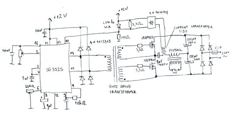 transistor based flyback driver sg3525 flyback driver with protection marko s science site