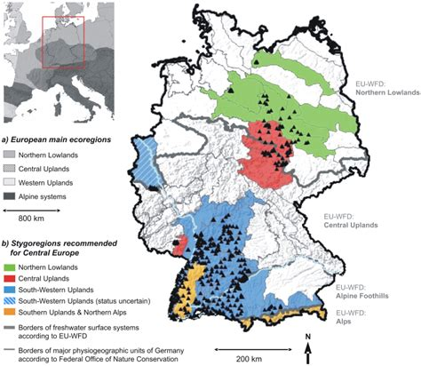 germany topographic map stygoregions a promising approach to a bioregional
