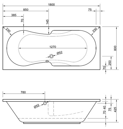 Badewanne Mit Griffen by Badewanne Mit Griffen 180 X 80 Cm Rechteckwanne F 252 R Zwei 2