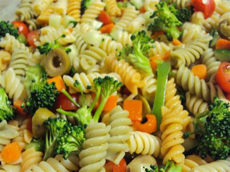 light and healthy pasta salad love little gems