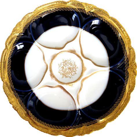 antiques vintage treasures and more boston design center antique haviland oyster plate cobalt abram french co
