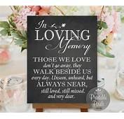 In Loving Memory Honor Remembrance Chalkboard Printable
