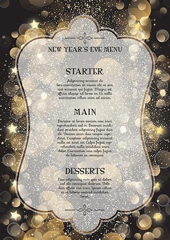 decorative  years eve menu   vectors clipart graphics vector art