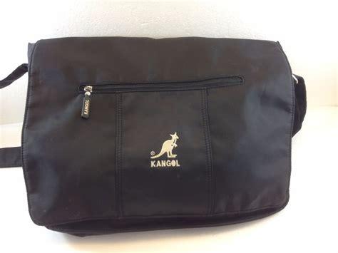 kangol black rubber nylon cross body shoulder messenger