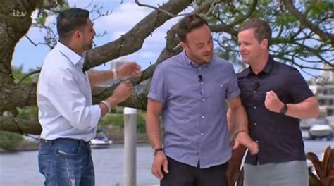celebrity jungle meal ticket i m a celebrity 2017 ant and dec take swipe at amir khan