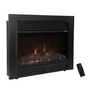 electric fireplace insert replacement 1500w insert glowing logs black electric firebox fireplace