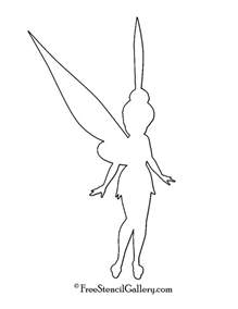 tinkerbell template silhouette disney tinkerbell images