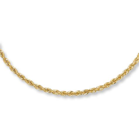 rope for jewelry jared rope necklace 14k yellow gold 22 quot length