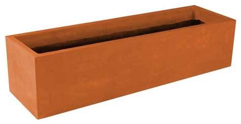 rectangular modular planter terra cotta 36x12x18 with
