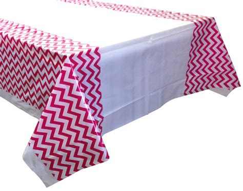 chevron pattern tablecloths fuchsia chevron plastic tablecloth