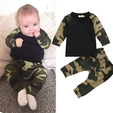 Sweter Boy Army Ab camouflage 2016 new newborn baby boys shirt top army green baby boys clothing