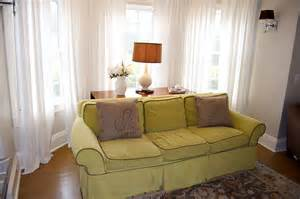 curtains for bay windows in living room living room filled with pleasant lime green sofa