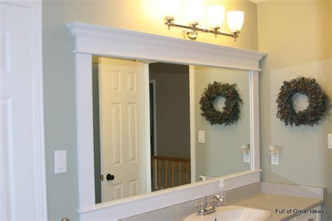 bathroom mirror trim full of great ideas framing a builder grade mirror that