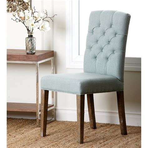 Blue Tufted Chair by Abbyson Living Princeton Tufted Fabric Dining Chair In