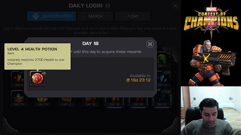 march login march and grandmaster login calendar marvel contest of