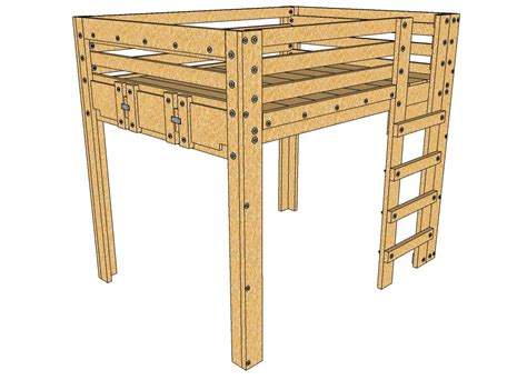 lofted queen bed queen loft bed plans palmetto bunk bed plans