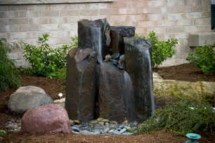 Rock Water Features For The Garden Aquascape Your Landscape Fountains Aflow In The Garden