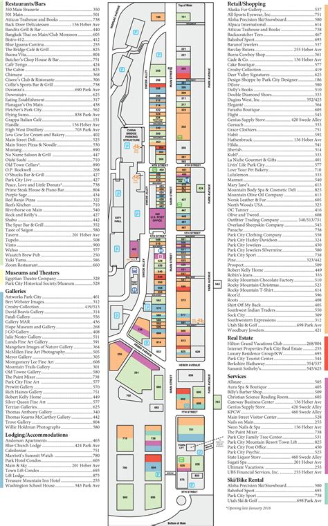 park city mall map map of park city mall my