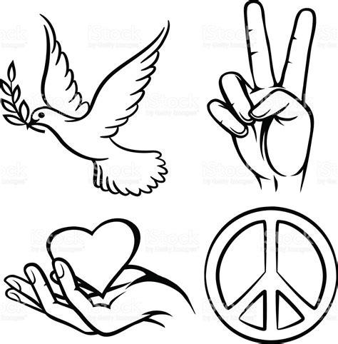 imagenes simbolos paz s 237 mbolos de la paz illustracion libre de derechos